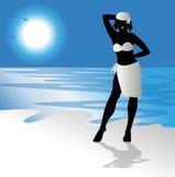 Bikini girl on the beach Stock Photos