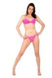 Bikini girl in pink Stock Image