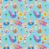 Bikini Girl Seamless Pattern_eps Royalty Free Stock Images
