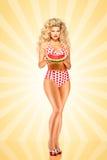 Bikini i winyl Zdjęcie Royalty Free