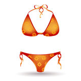 Bikini isolated on white Stock Photography