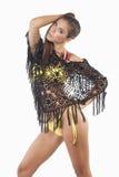 Bikini and mesh scarf Stock Photo