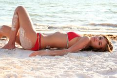Bikini Model Royalty Free Stock Photography