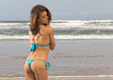 Bikini Model On Beach Stock Photography