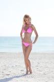 Bikini model on the beach Stock Photo