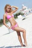Bikini model on the beach Stock Images