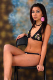 Bikini model sitting  Royalty Free Stock Image
