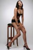 Bikini noir sexy Photographie stock libre de droits