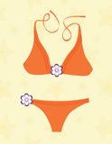 Bikini orange Photographie stock libre de droits