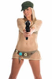 Bikini Paintball Stock Photo