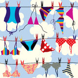 Bikini pattern. Seamless background pattern. Will tile endlessly Royalty Free Stock Images