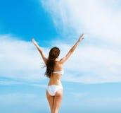 bikini piękna biała kobieta Zdjęcie Royalty Free