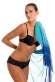Bikini que desgasta de la mujer imagen de archivo