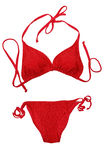 Bikini rosso immagine stock