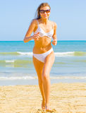Bikini run, white and free Royalty Free Stock Photos