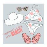 Bikini  set illustration Stock Photography