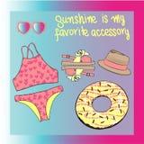 Bikini  set illustration Royalty Free Stock Images