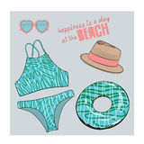 Bikini  set illustration Stock Images