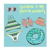 Bikini  set illustration Royalty Free Stock Image