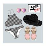 Bikini  set illustration Royalty Free Stock Photo