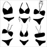 Bikini Set in Silhouette Stock Photo