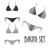 Bikini set  on white background Stock Photos
