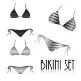 Bikini set  on white background Stock Photos