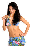 bikini sexiga latina arkivfoto