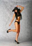 Bikini sexy brunette Royalty Free Stock Photos