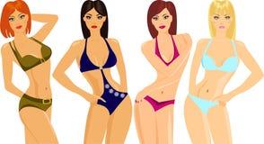 Bikini show Stock Image