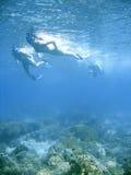 Bikini snorkeling Stock Photo