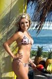 Bikini-Strand blond Stockfotos