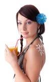 bikini sunscreen νεολαίες γυναικών Στοκ Φωτογραφία