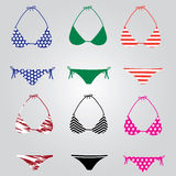 Bikini swimsuit collection eps10 Royalty Free Stock Photography