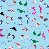 Bikini swimsuit pattern  Stock Photos