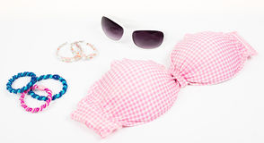 Bikini top with accessories Royalty Free Stock Images