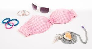 Bikini top with shell Royalty Free Stock Photos