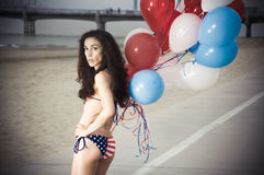 bikini USA Royaltyfri Bild