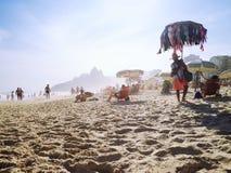 Bikini Vendor Ipanema Beach Rio de Janeiro Afternoon Scene Stock Images