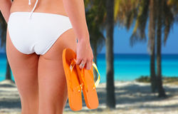 Bikini Woman At The Beach Stock Images