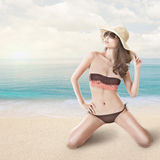 Bikini woman at beach Royalty Free Stock Image