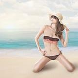 Bikini woman at beach Royalty Free Stock Image