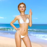 Bikini woman. 3D CG rendering of a bikini woman Royalty Free Stock Images