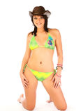Bikini woman with hat Royalty Free Stock Images