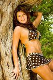 Bikini woman with nature Stock Images