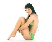 Happy bikini woman Stock Image