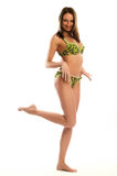 Bikini woman over white background Stock Photo