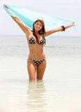 Bikini woman with a sarong Stock Photography