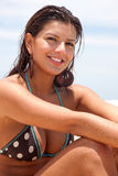 Bikini woman smiling Stock Photography