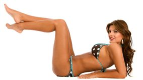 Bikini woman smiling Royalty Free Stock Images